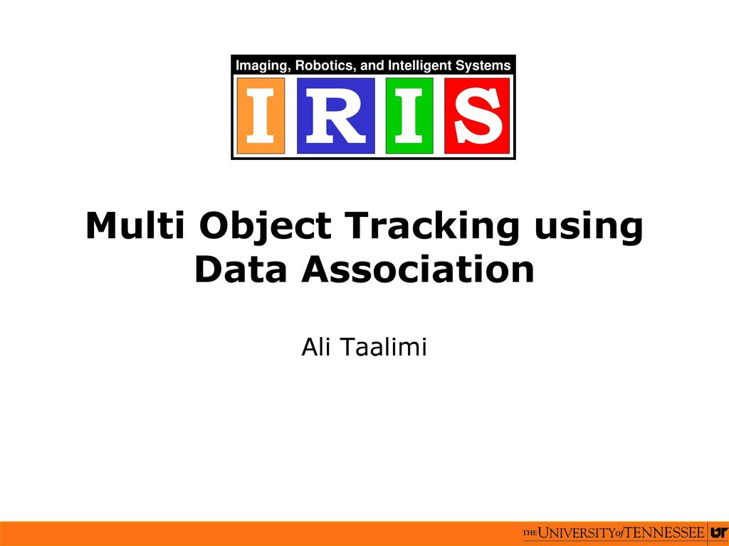 Multi Object Tracking using Data Association - ppt download