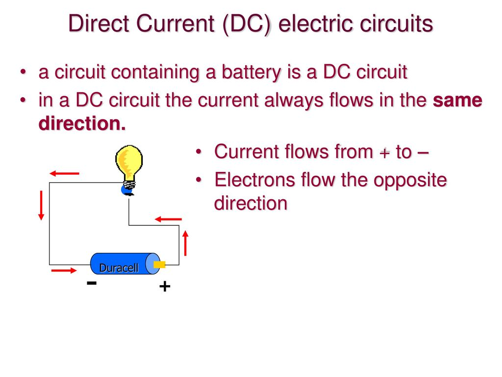 Circuits Ppt Download Direction Of Current In A Circuit Direct Dc Electric