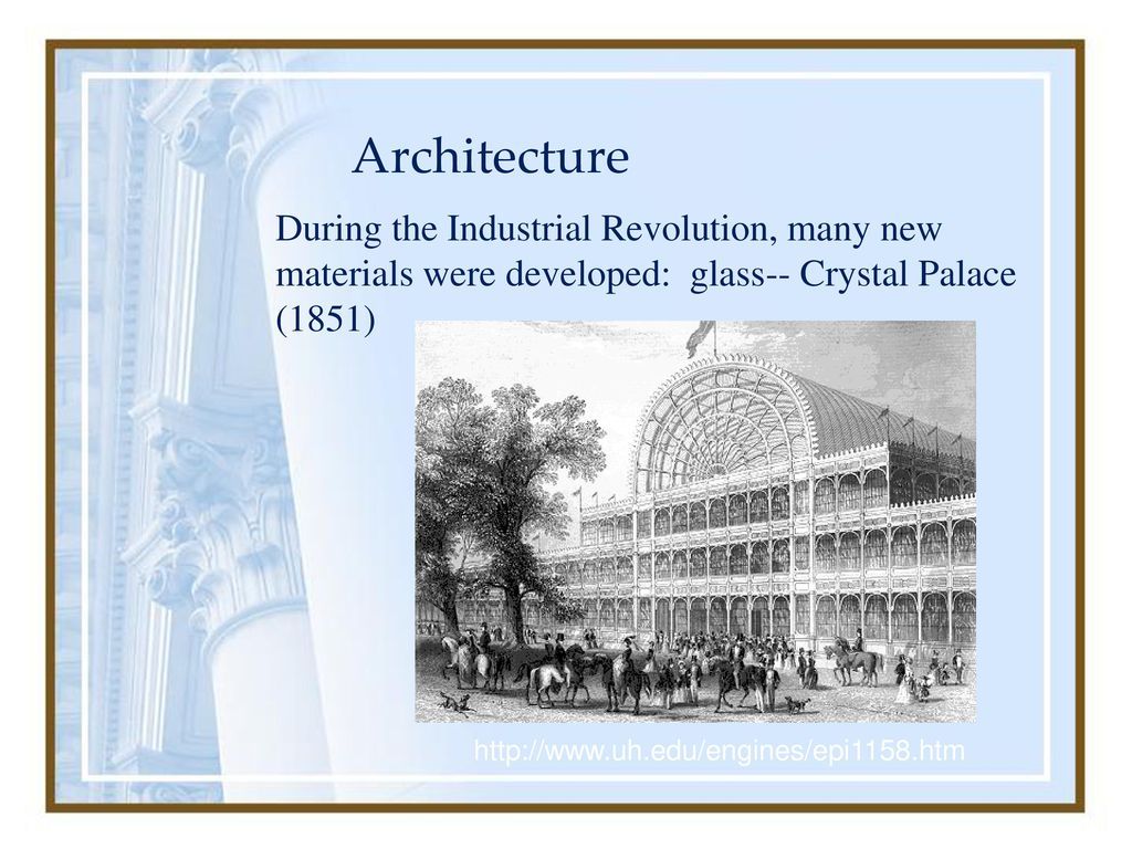 architecture during industrial revolution