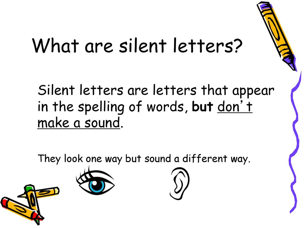 Silent Letters In English Ppt Download
