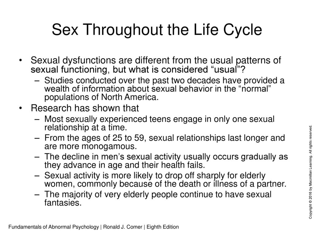 Abnormal sexual behavior patterns alone!