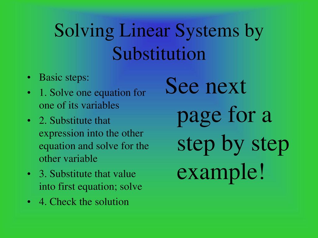 Systems of Linear Equations - ppt download