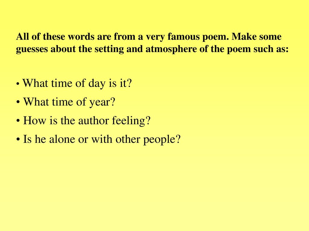 Atmosphere And Symbolism In Poetry Ppt Download