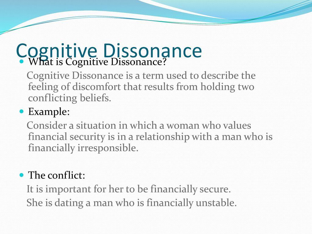 cognitive dissonance dating