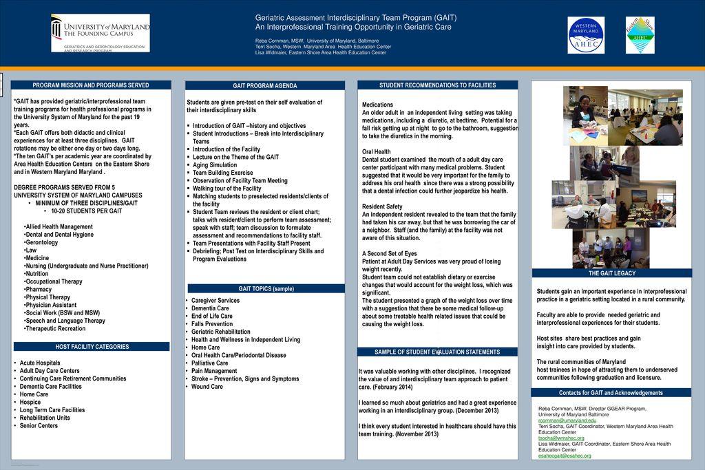 Geriatric Assessment Interdisciplinary Team Program (GAIT
