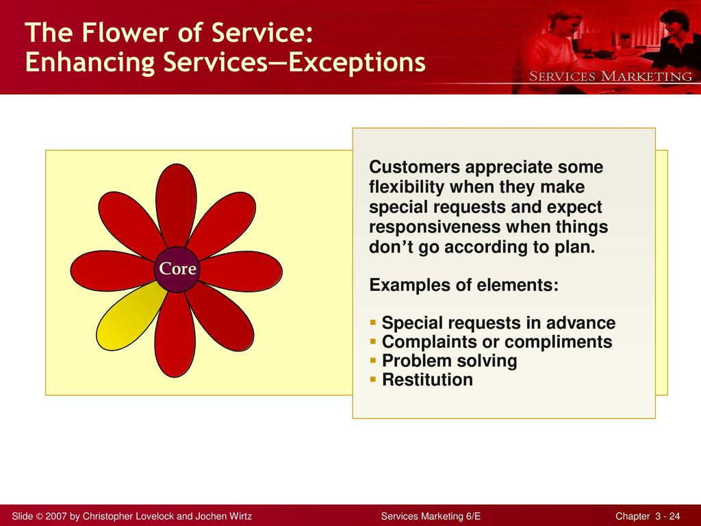 The Flower of Service: Enhancing Services—Exceptions