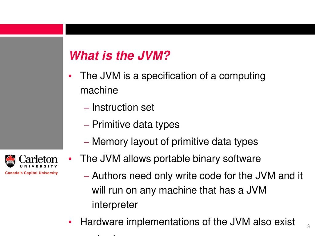 The Java Virtual Machine (JVM) - ppt download