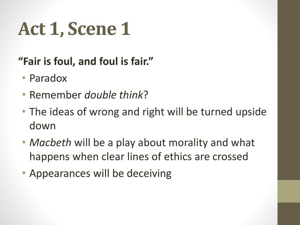 paradox in macbeth act 3