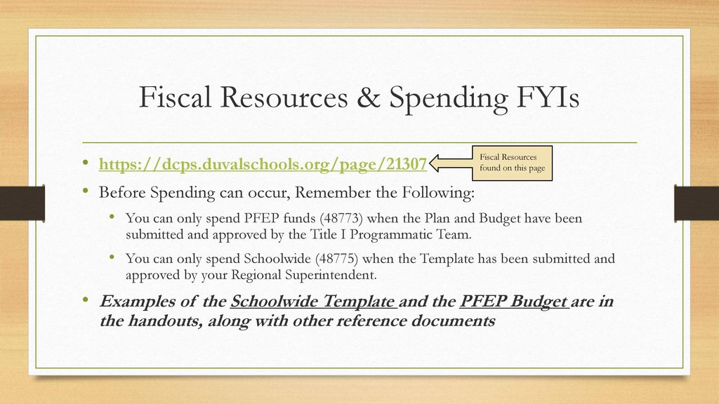 federal programs title i fiscal year ppt download