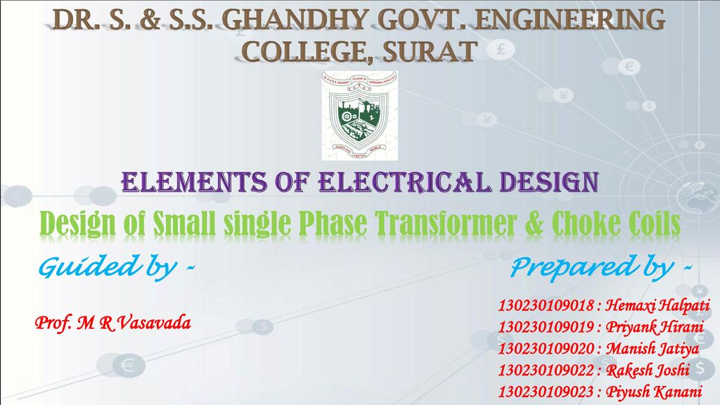 Elements of electrical design - ppt download