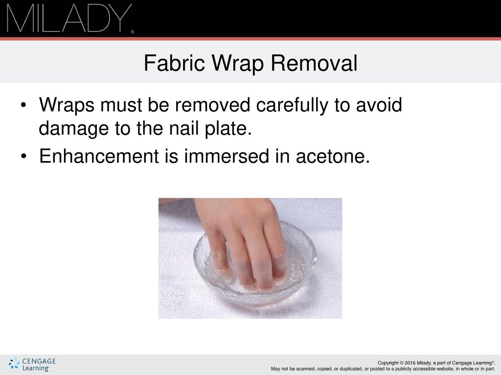 Fabric Wrap Removal Wraps Must Be Removed Carefully To Avoid Damage The Nail Plate