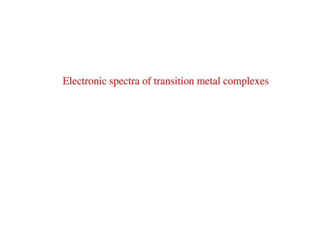 Electronic spectra.