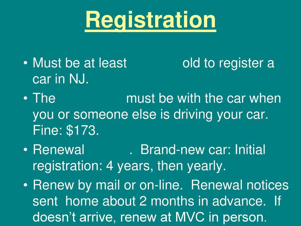 5 Registration