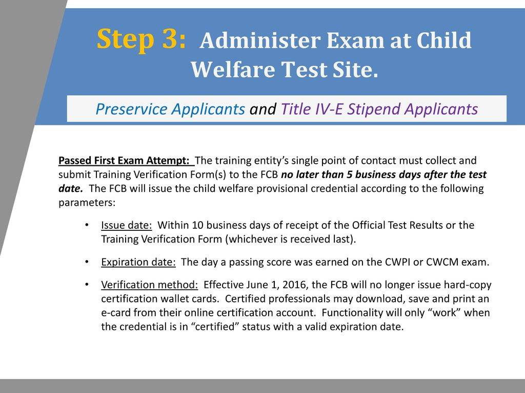 Child Welfare Certification Process - ppt download