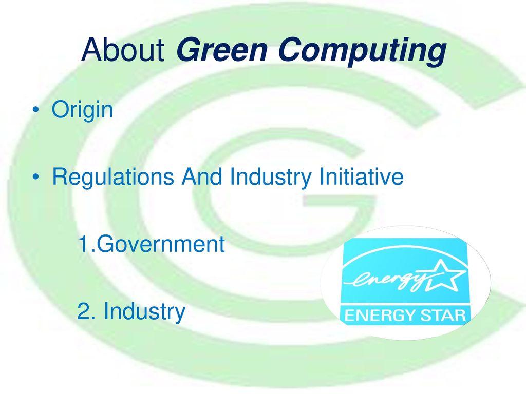 origin of green computing