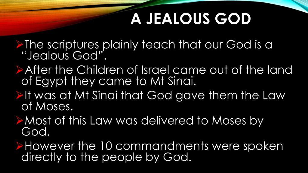 "Our God is a ""Jealous God"" - ppt download"