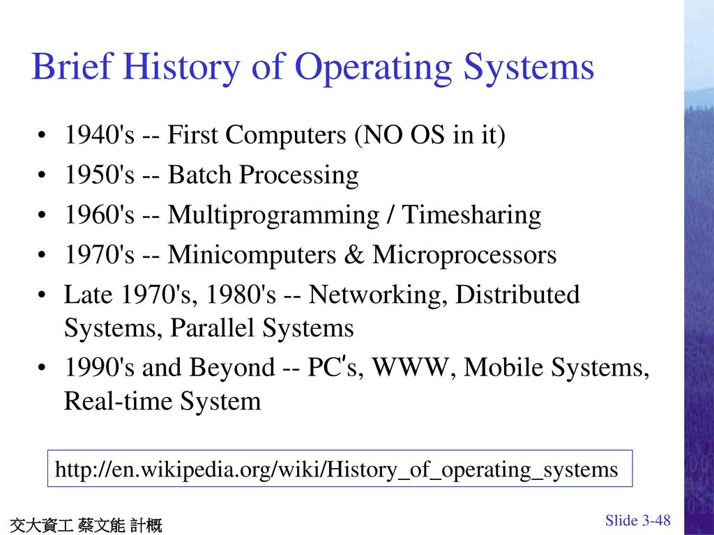 Chapter 3 Operating Systems J Glenn Brookshear Microprocessor Design Add And Subtract Blocks Wikibooks Open Books Brief History Of
