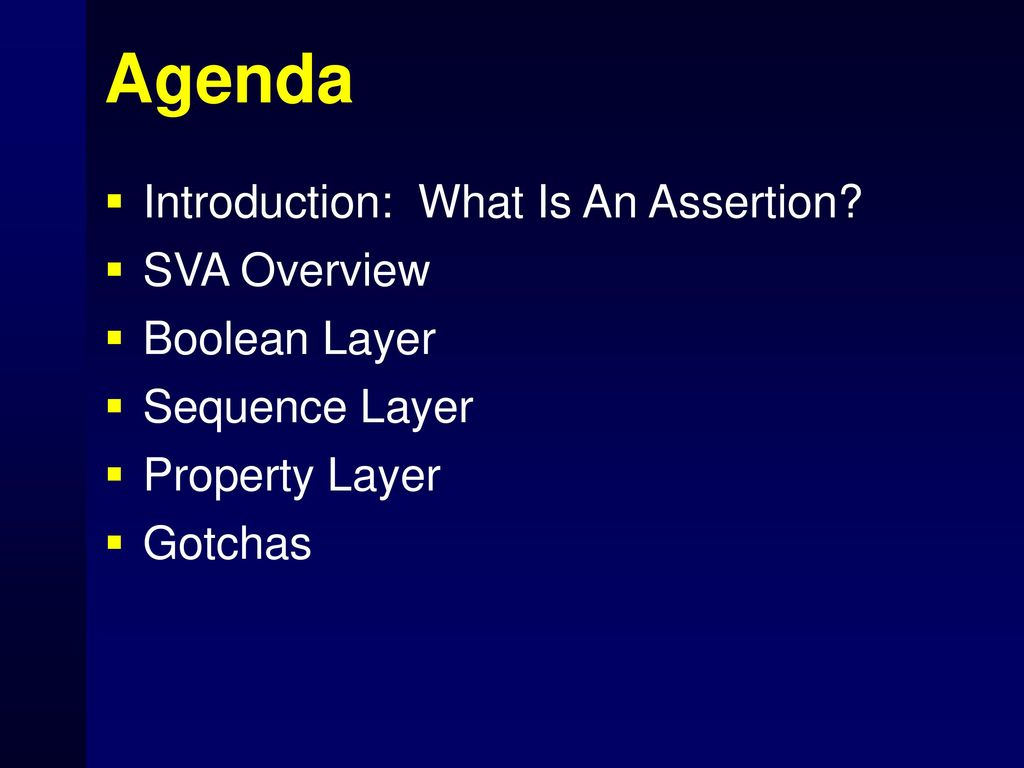 Introduction to System Verilog Assertions - ppt download