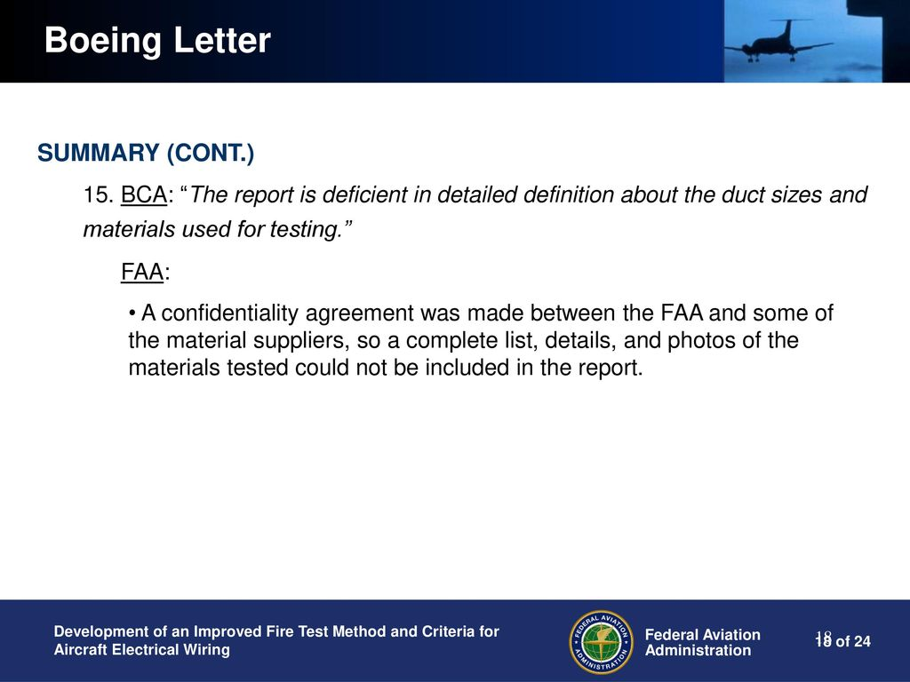Home Wiring Materials List Response To Aircraft Ducting Working Group Members Questions Ppt 18 Boeing