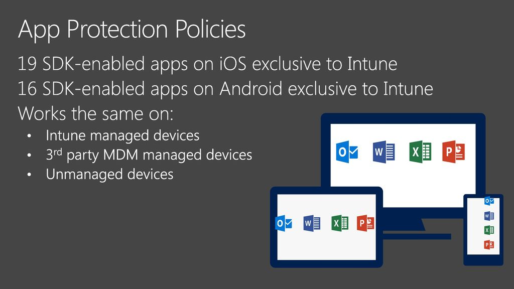 Manage and protect Office 365 mobile apps with Microsoft