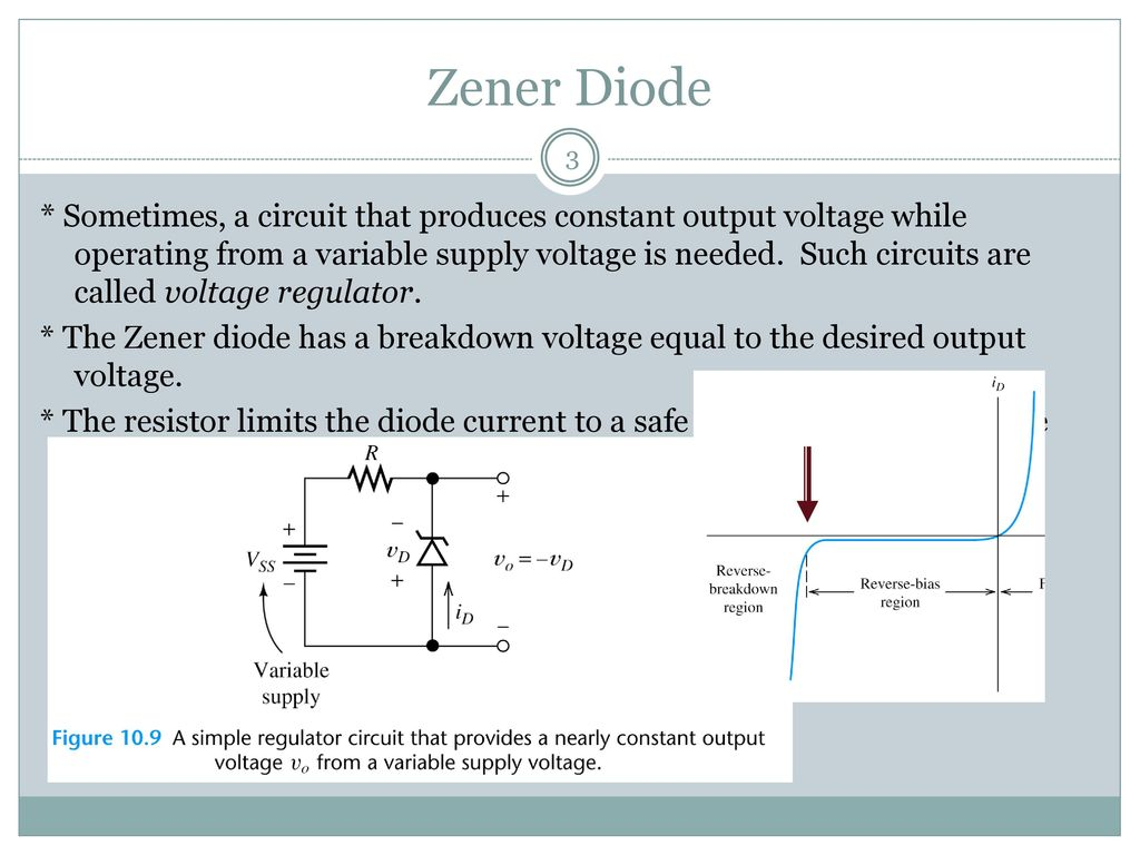 Semiconductor Diode Ppt Download Voltage Regulator Circuit Simple Variable 3 Zener