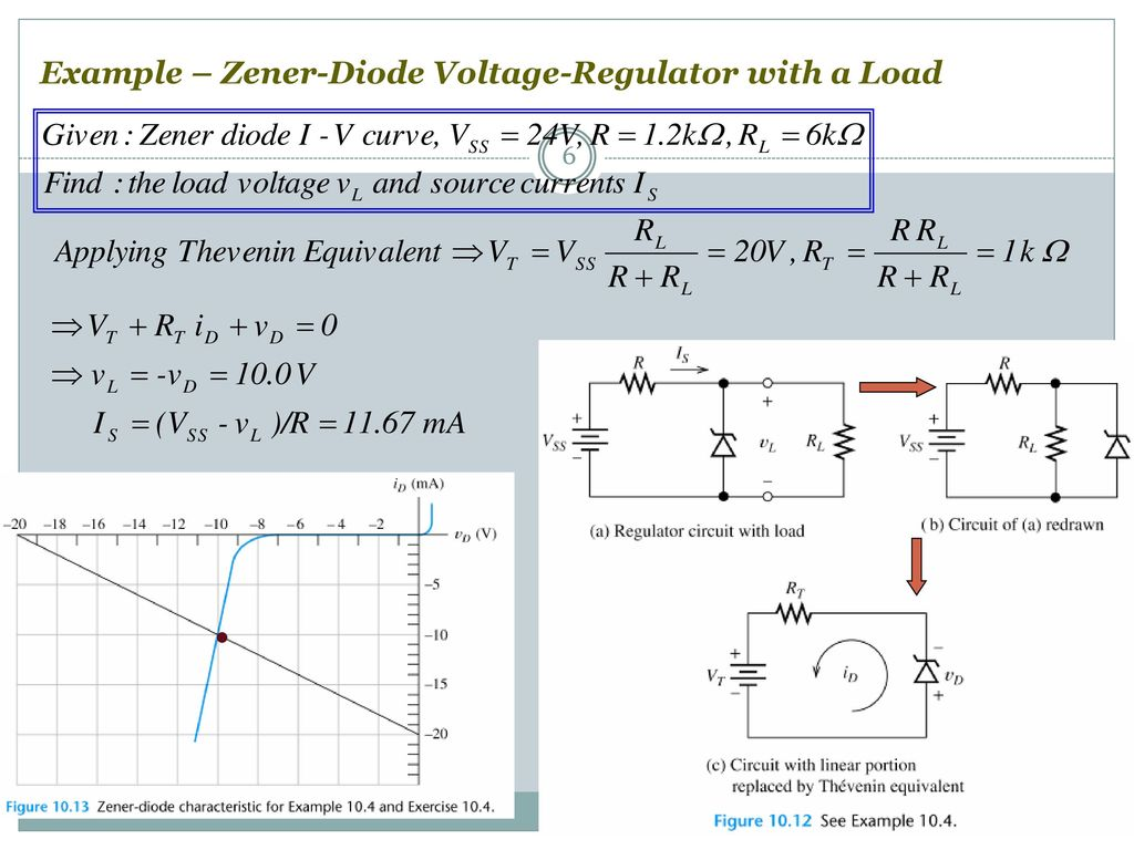 Semiconductor Diode Ppt Download Zener Voltage Regulator Circuit 6 Example With A Load