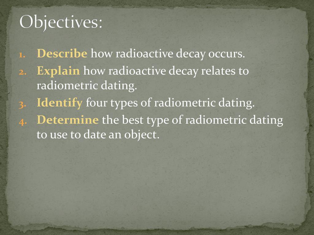 Soort radiometrische dating