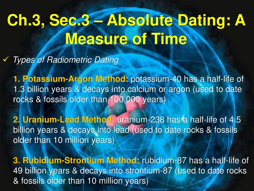 why is uranium 238 used for dating rocks