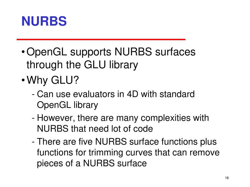 Curves and Surfaces in OpenGL - ppt download