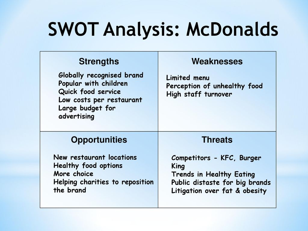 mcdonalds internal analysis