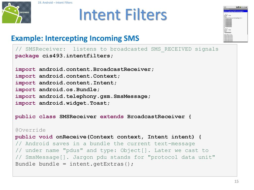 Android Intent Filters - ppt download
