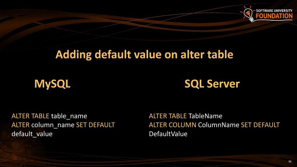 Enchanting Alter Table Set Default Value Ideas - Best Image Engine ...