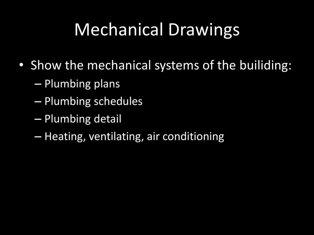 Blueprint reading and care ppt download mechanical drawings show the mechanical systems of the builiding malvernweather Gallery