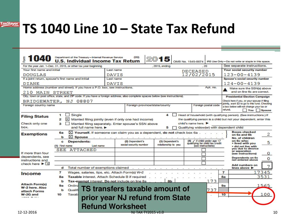 State Income Tax Refund Alimony Ppt Download