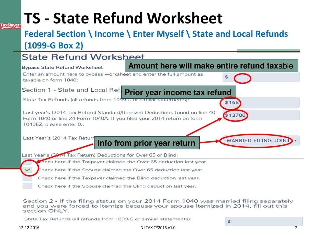 What is state or local income tax refund