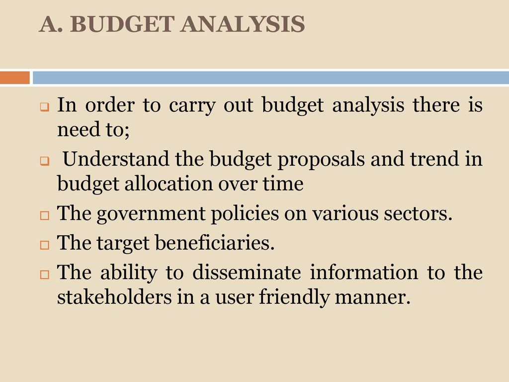 Independent Budget Analysis: Tools and Techniques - ppt download