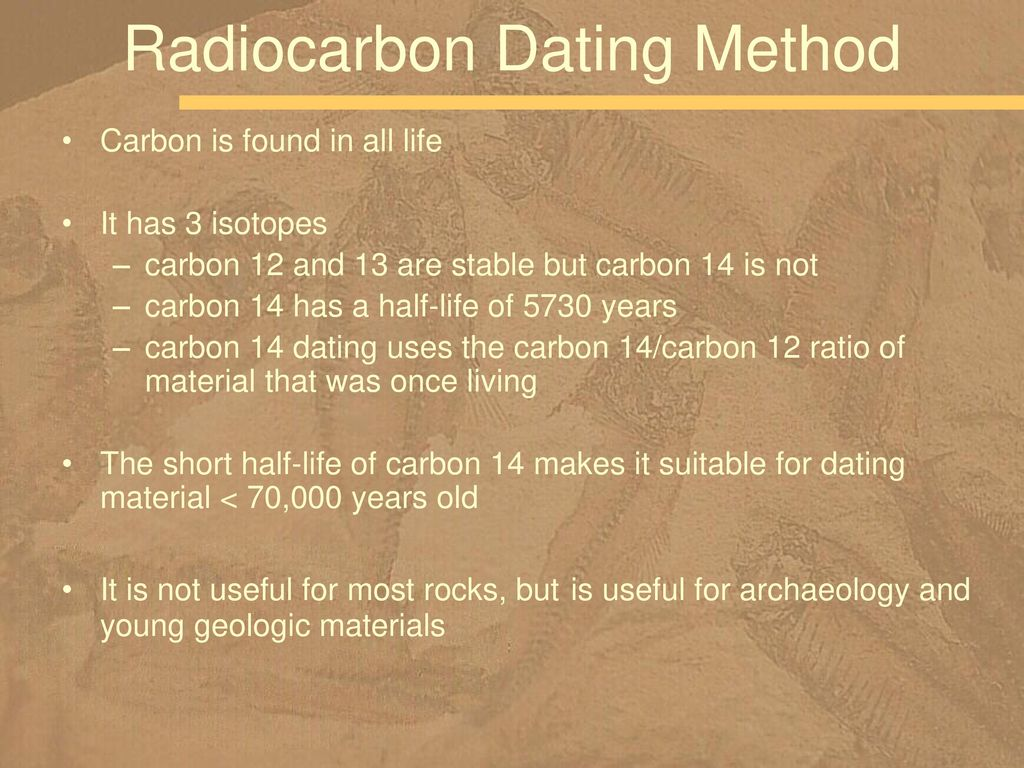 Carbon dating useful