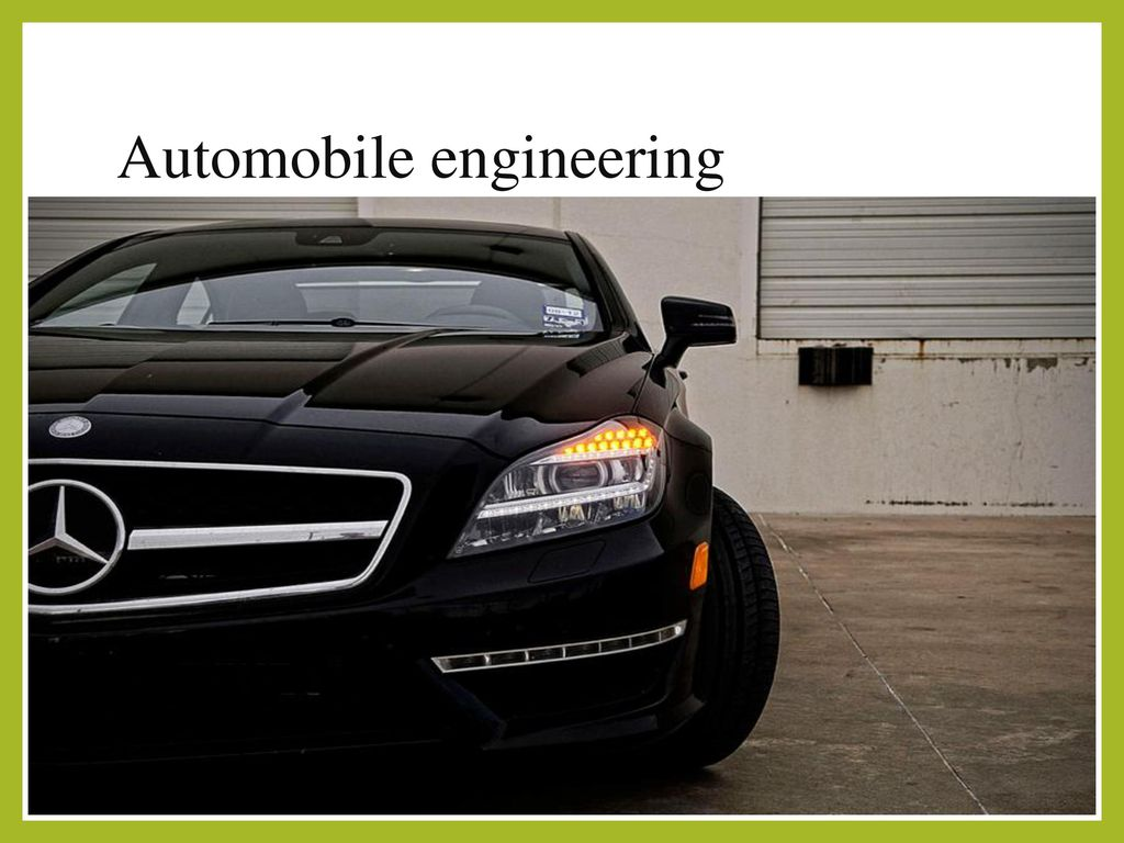 An Overview On Automobile Engineering Ppt Download