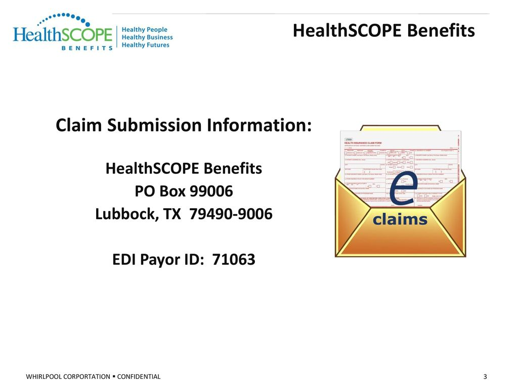 HealthSCOPE Benefits Click on Provider. 3 Claim Submission Information: