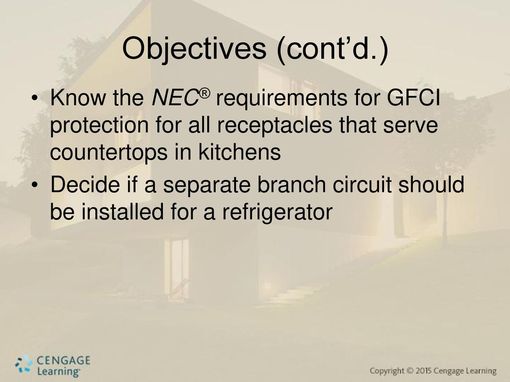 Nec Kitchen Wiring Electrical Diagram Schematics One Line Lighting Branch Circuit And Small Appliance Circuits For Gfi Code