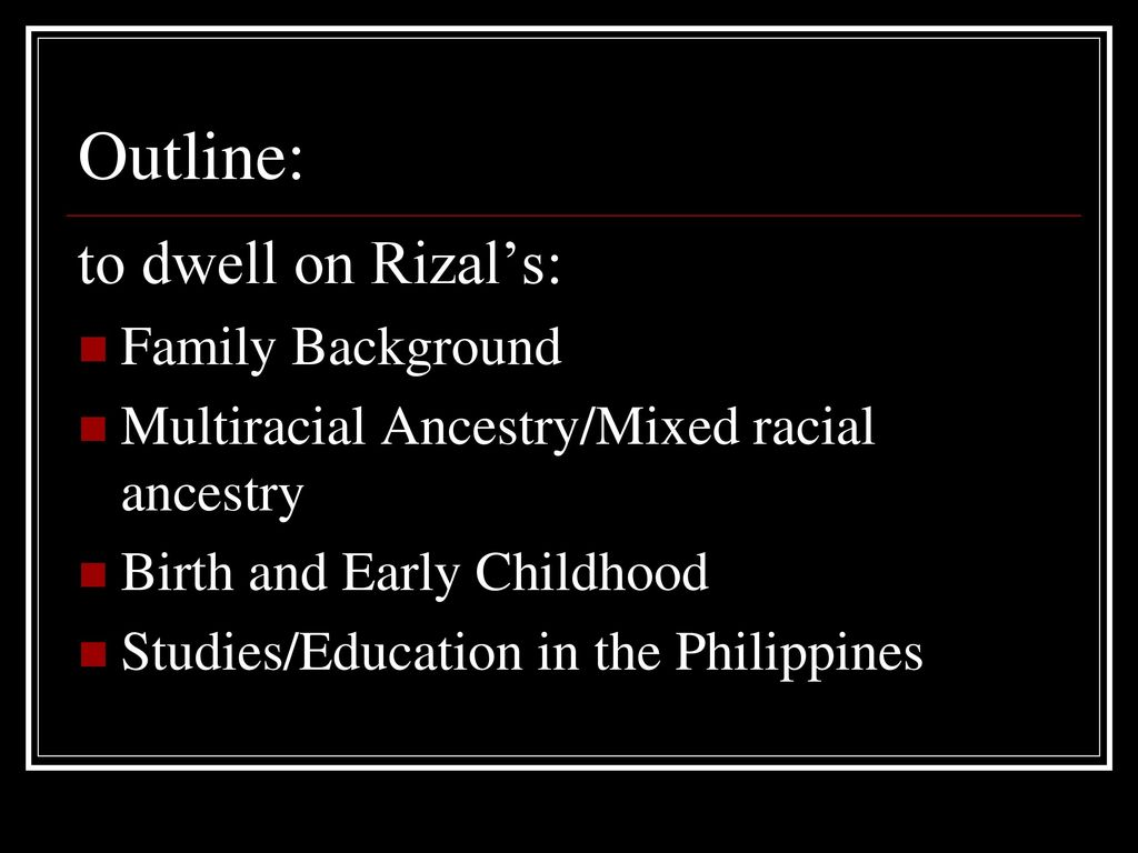 rizal family background
