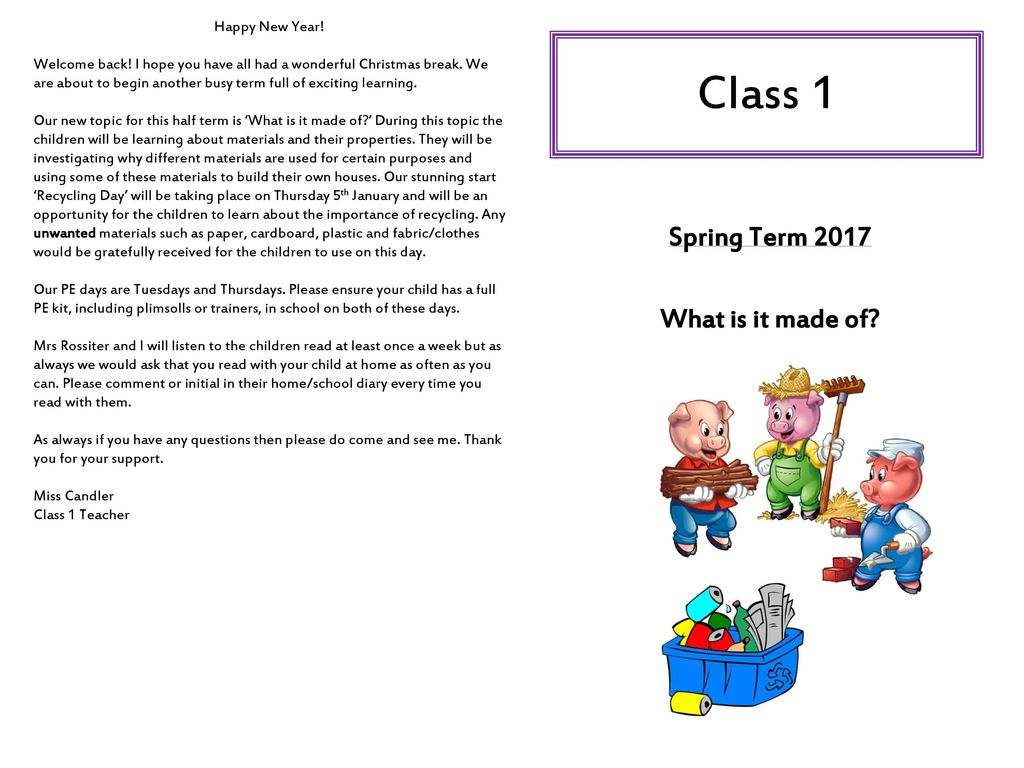 a842e7cf973c Class 1 Spring Term 2017 What is it made of  Happy New Year! - ppt ...