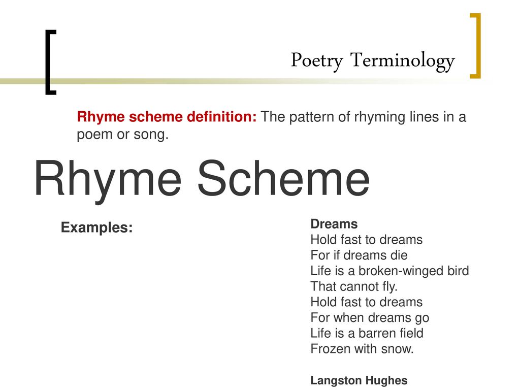 poems about life with rhyme scheme