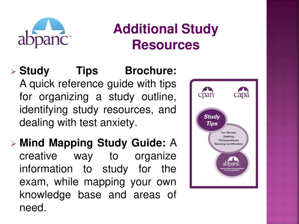 Additional Study Resources