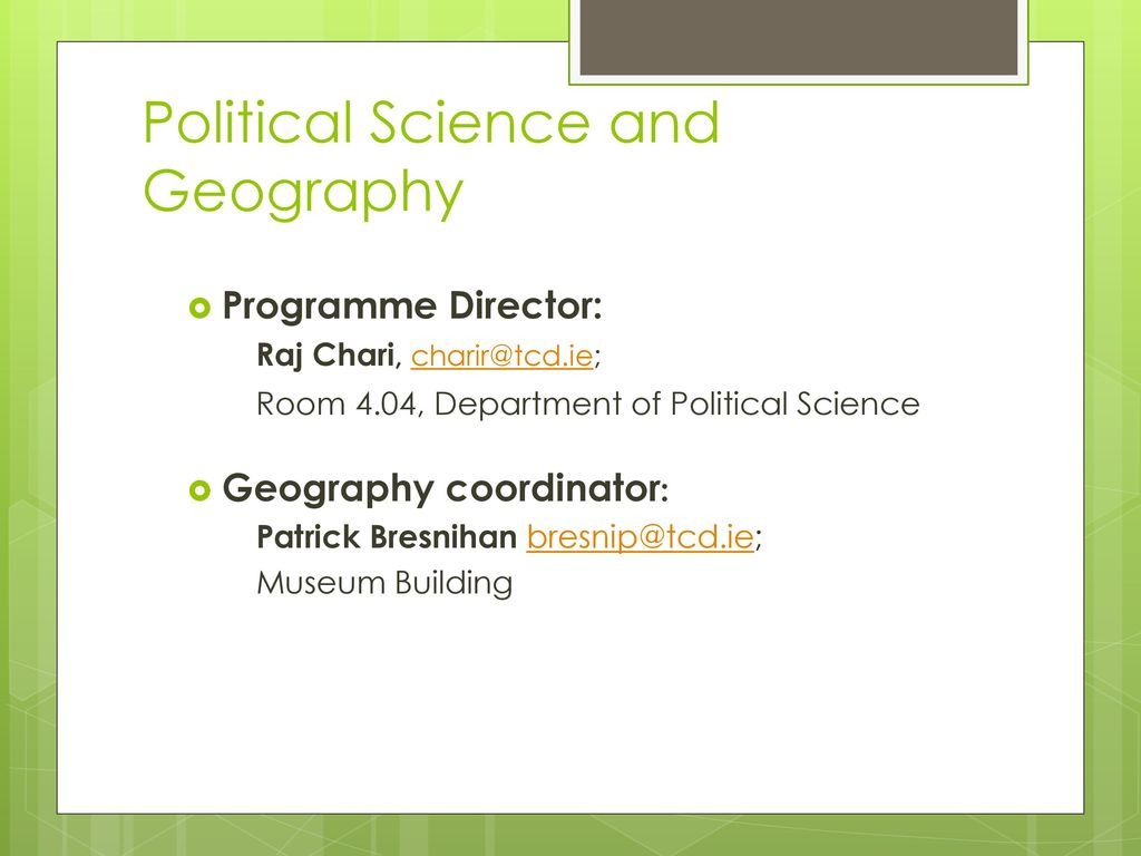 what is the relationship between political science and geography