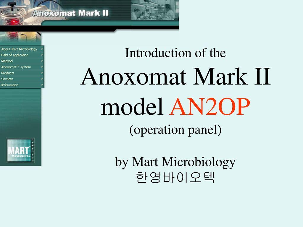 Anoxomat Mark II, AN2OP (operation panel) - ppt download