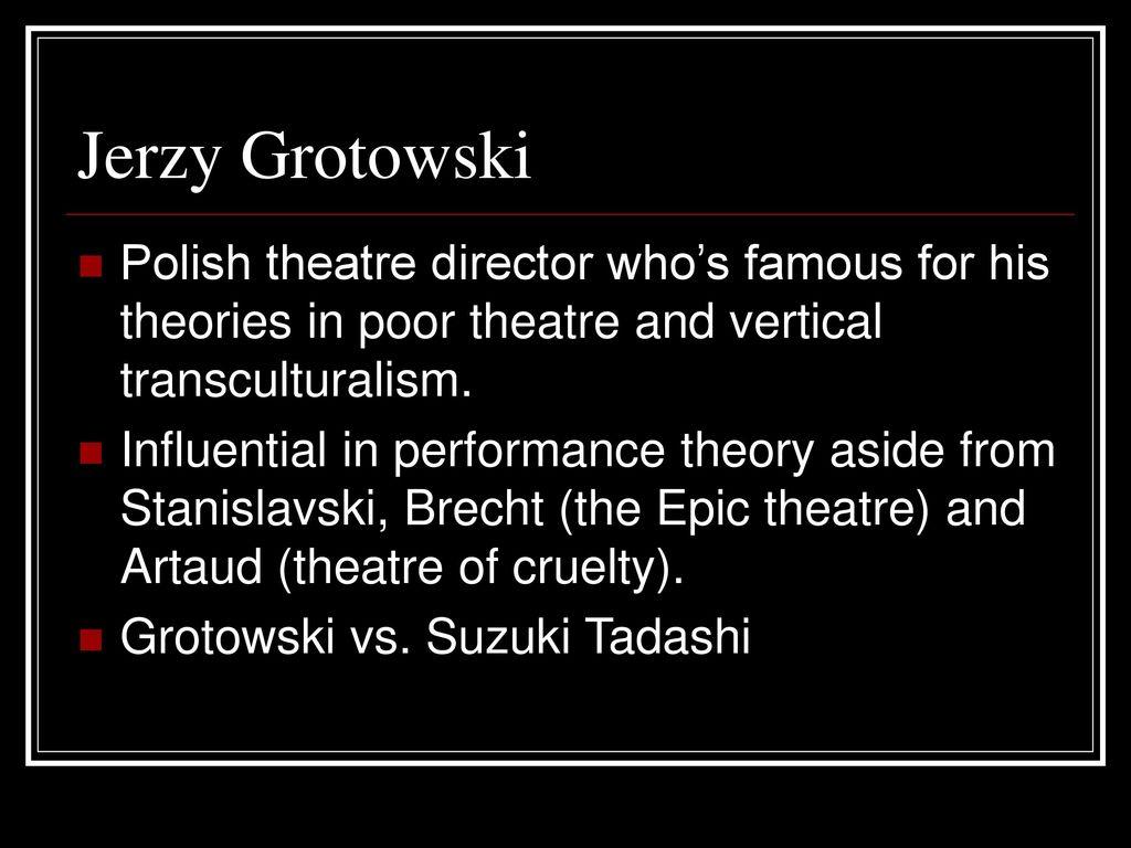 grotowski poor theatre