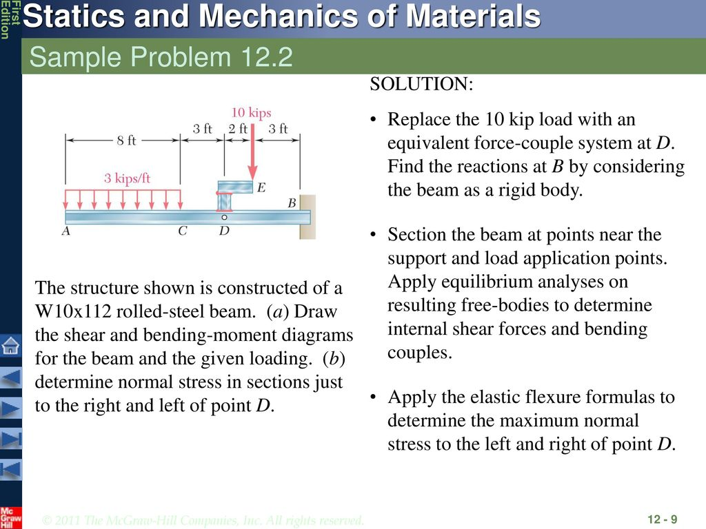 Analysis And Design Of Beams For Bending Ppt Download Moment Diagram Distributed Load Question 9 The Shape Sample