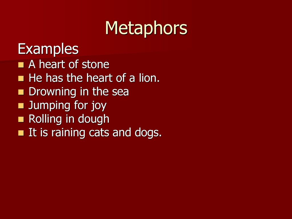 Similes Metaphors Ppt Download
