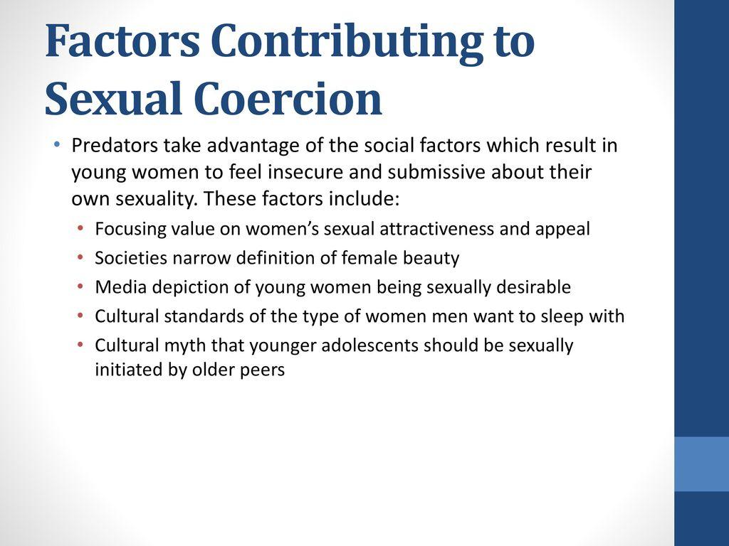 sexual coercion definition